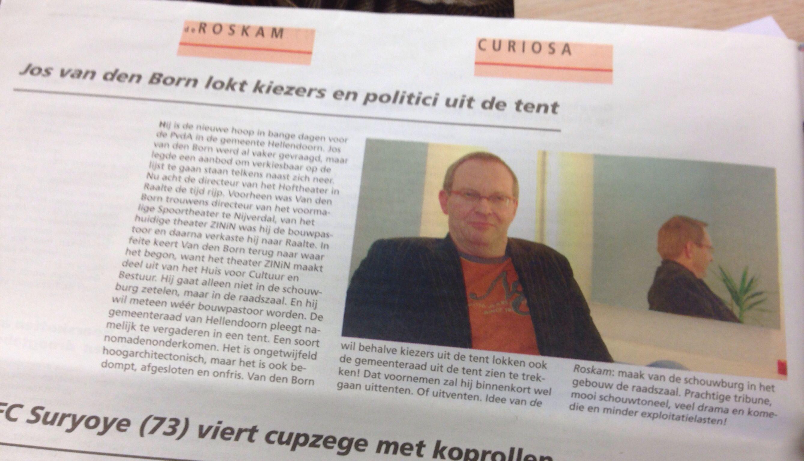 Jos van den Born in de Roskam.