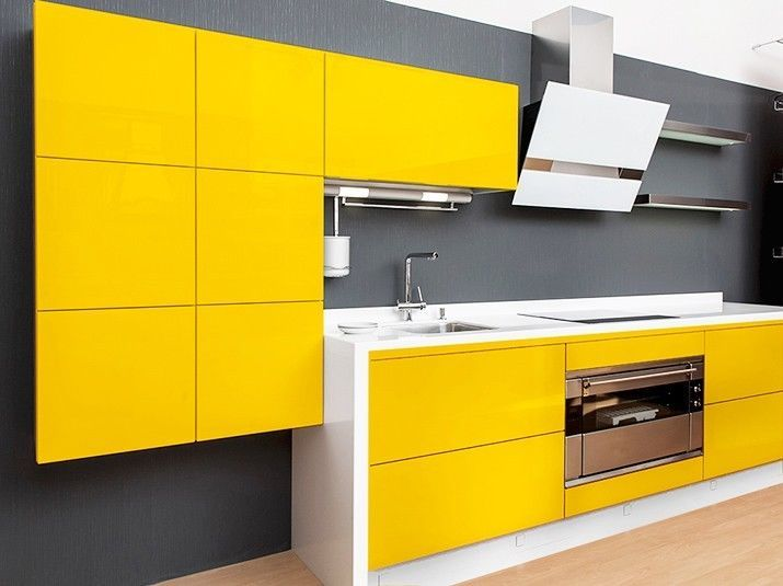 Küchenfolie 021 gelb 10m x 63cm glänzend 621 Klebefolien für ...