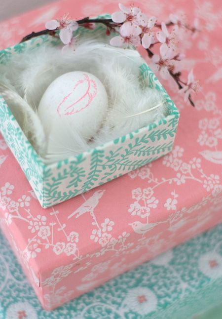 Easter Egg with Feather