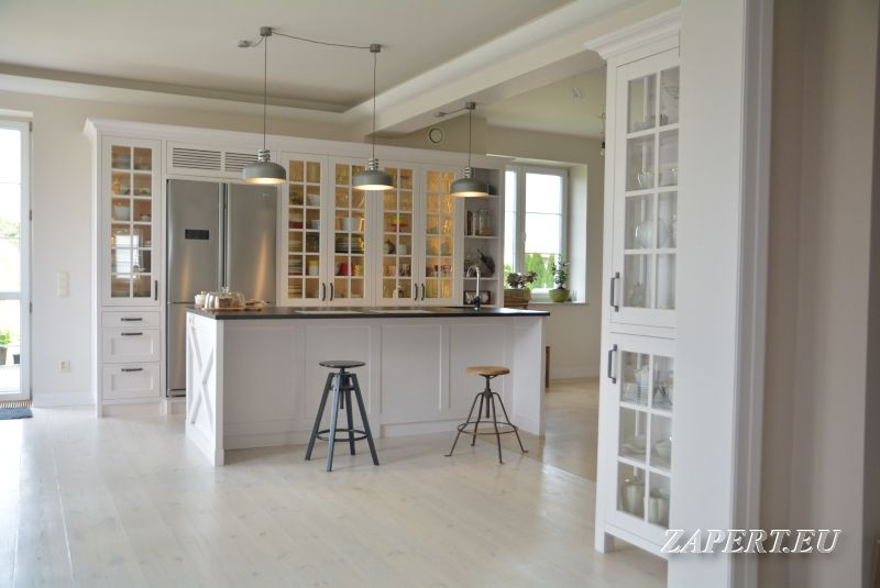 Biala Kuchnia Z Wyspa Home Decor Furniture Decor