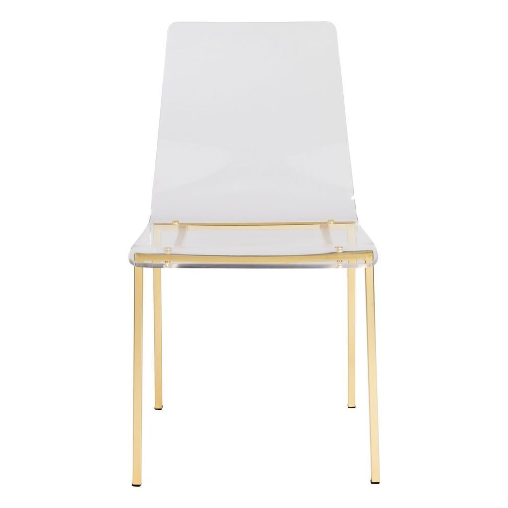 Set Of 4 Clear Acrylic Dining Chair With Metal Legs Options In 2020 Acrylic Dining Chairs Solid Wood Dining Chairs Dining Chairs