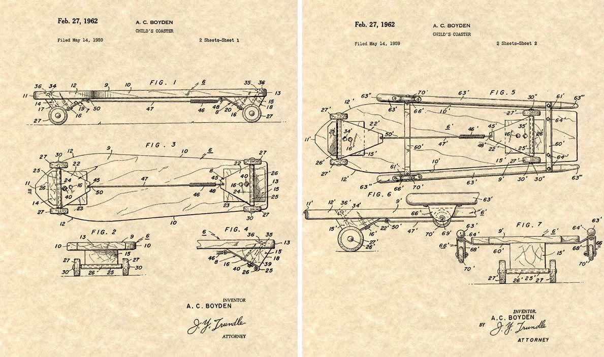 Vintage Skateboard Blueprint | EGNURG | Art, Skateboard art, Art