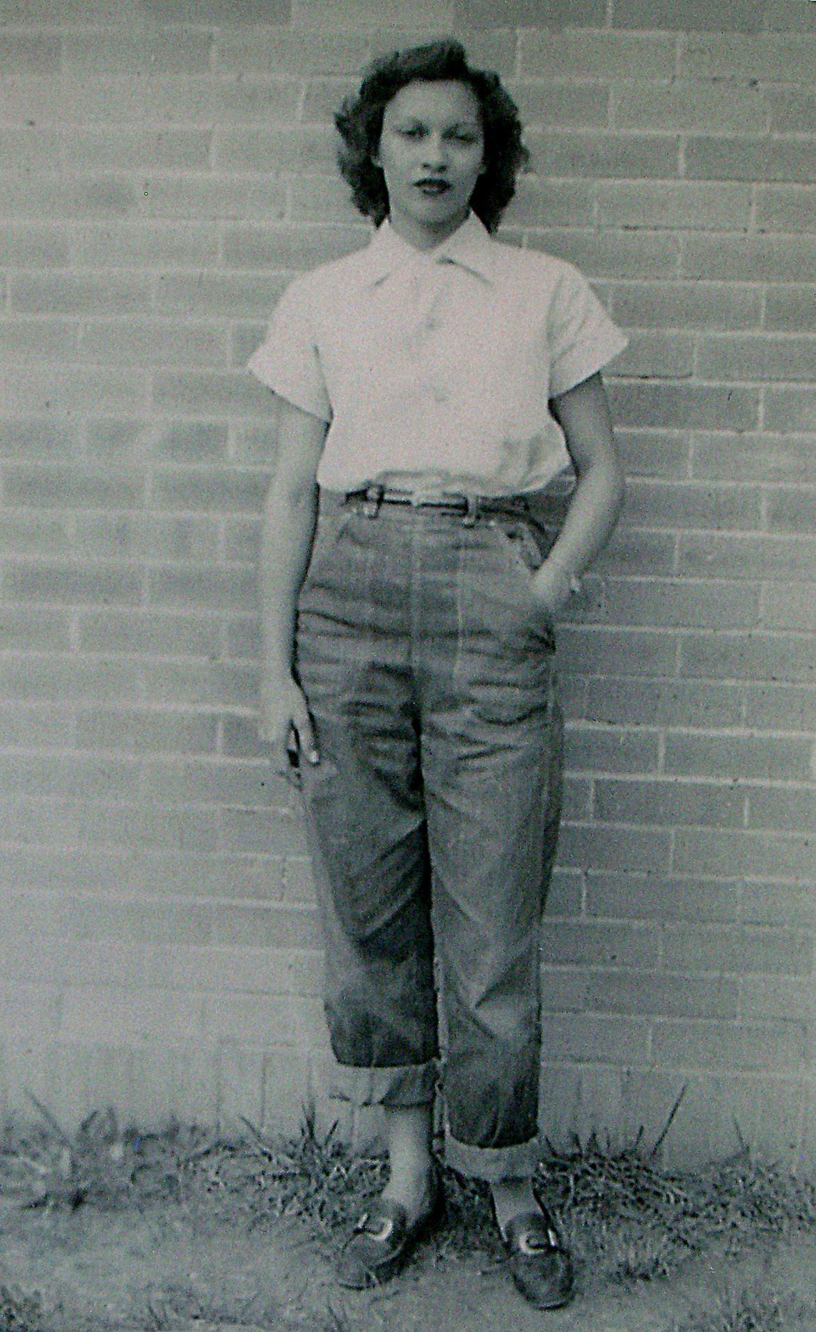 Mom at oberlin louisiana high school 1948 workwear Vintage fashion style tumblr