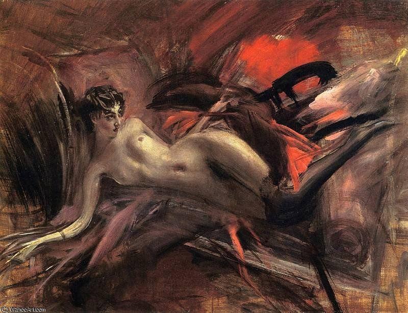 'Nudo sdraiato', 1930 di Giovanni Boldini (1842-1931, Italy)