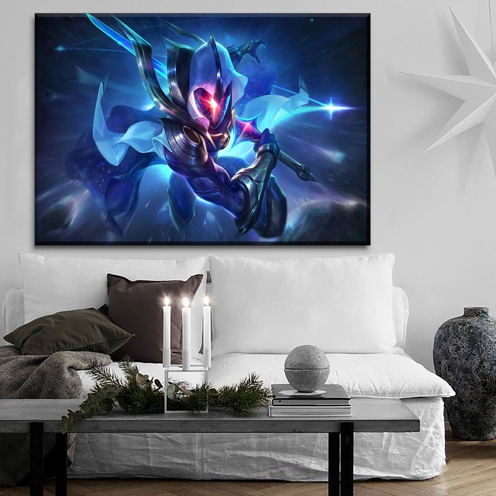 Lol League Of Legends Master Yi Gaming 1 Piece Canvas Wall Art Canvas Wall Art Wall Art Lol League Of Legends