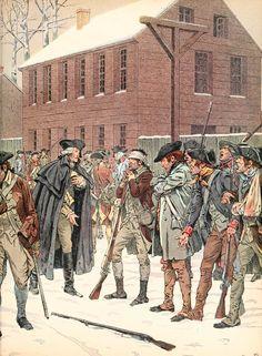 Washington pleading with mutinous soldiers, 1782, by JOB - American Revolutionary War