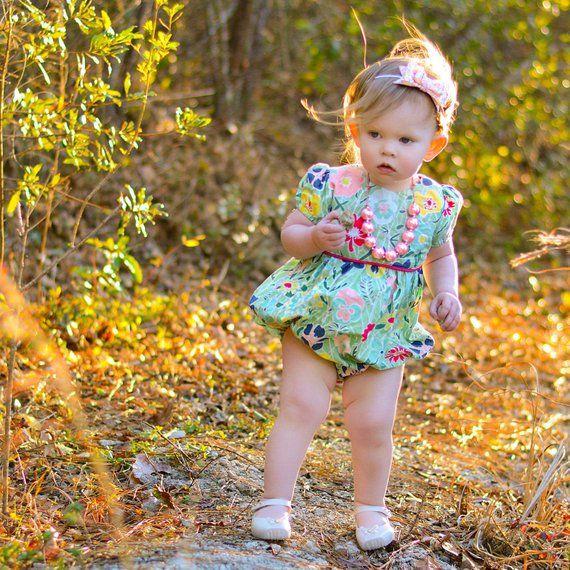 1e2d2d2a02b6 Girls romper - bubble romper for toddler girls - baby romper - girls spring  romper - toddler clothes