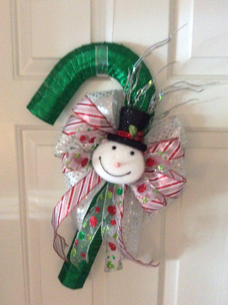 Christmas Candy Cane Decor, Beach Home Creations 44