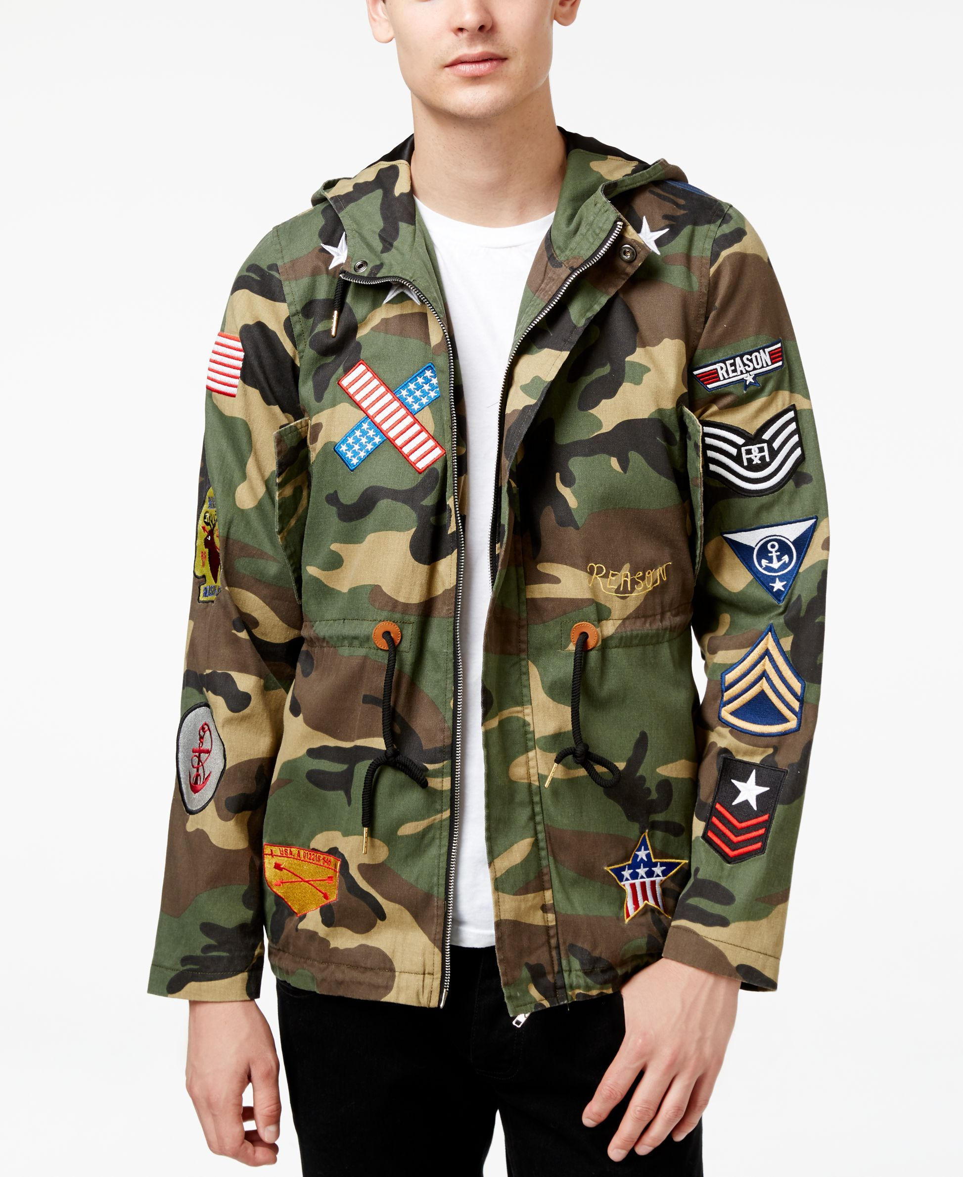 085c59cf0fd09 Reason Men's Banners Camo-Print Parka Jacket | GSM TAG Chapter ...
