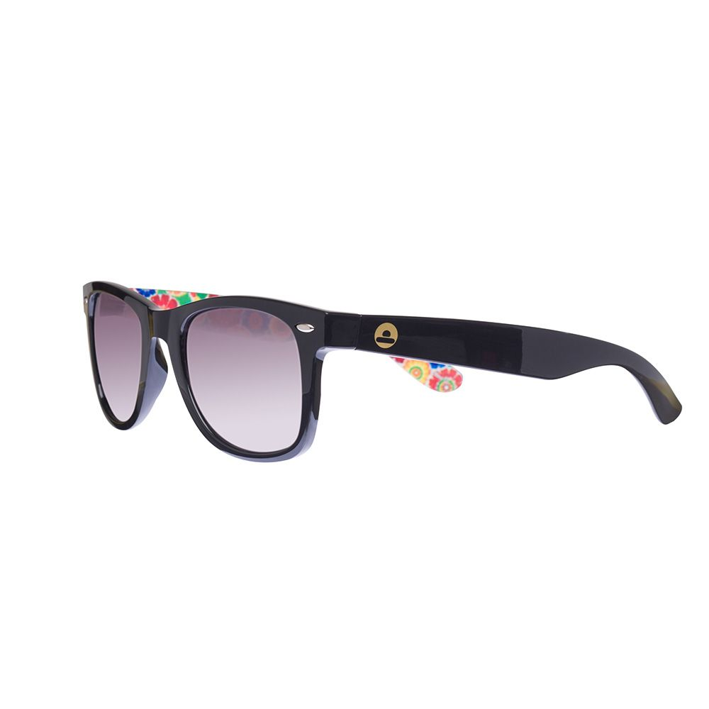 Big Buddha Floral Temple Sunglasses Black up to 70% off | Accessories | Little Black Bag