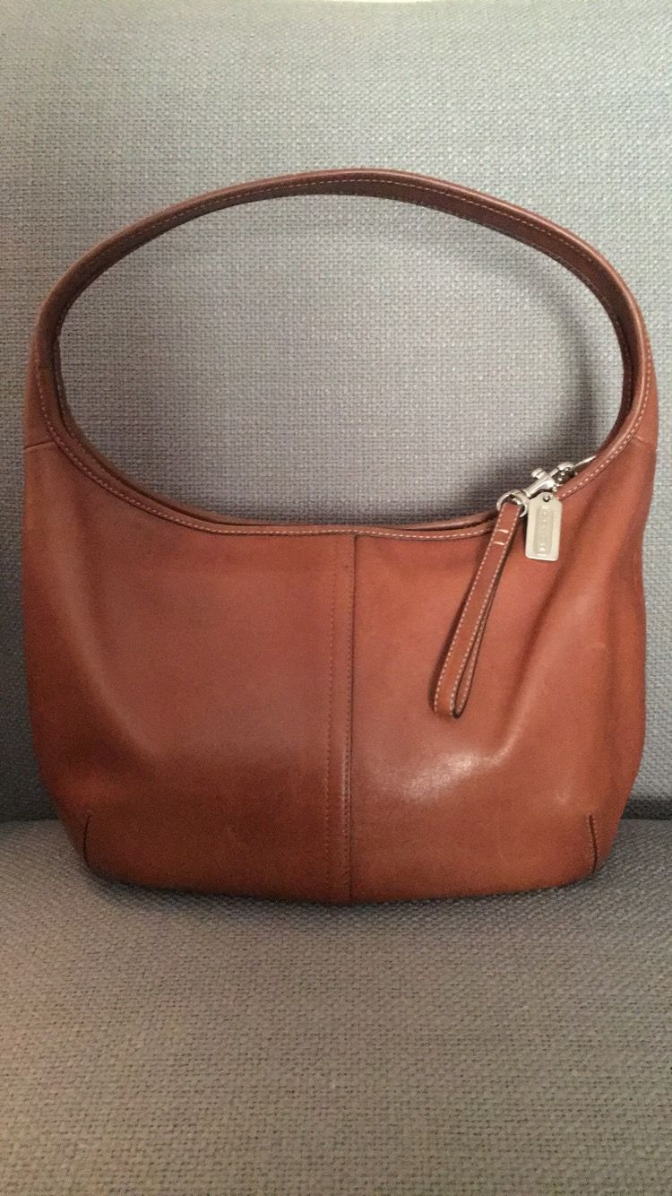 ecca738295 Coach—No. K3M-9226 Rare—British Tan Leather Vintage Ergo Hobo Bag—I ve had  this for a long time