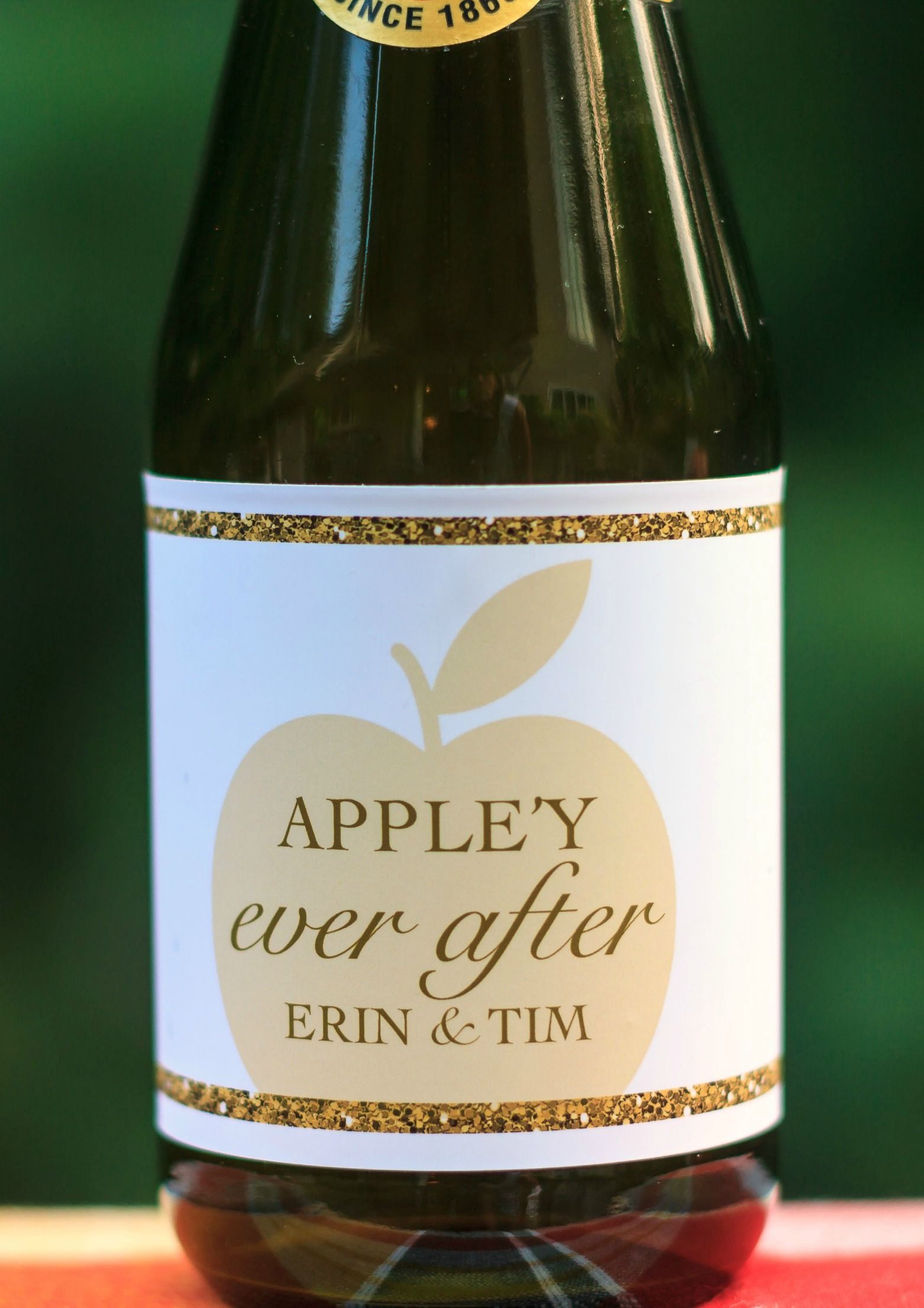Fall Wedding Favor. Bridal Shower Favor. Appley Ever After Bottle ...