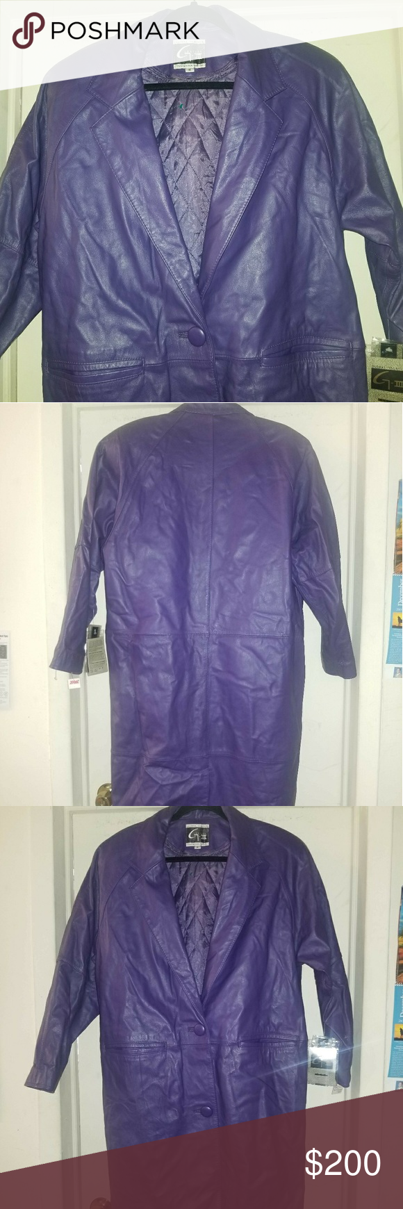 1dcd42f1cf VTG Global identity g-III purple leather Coat M This is a gorgeous vintage  global