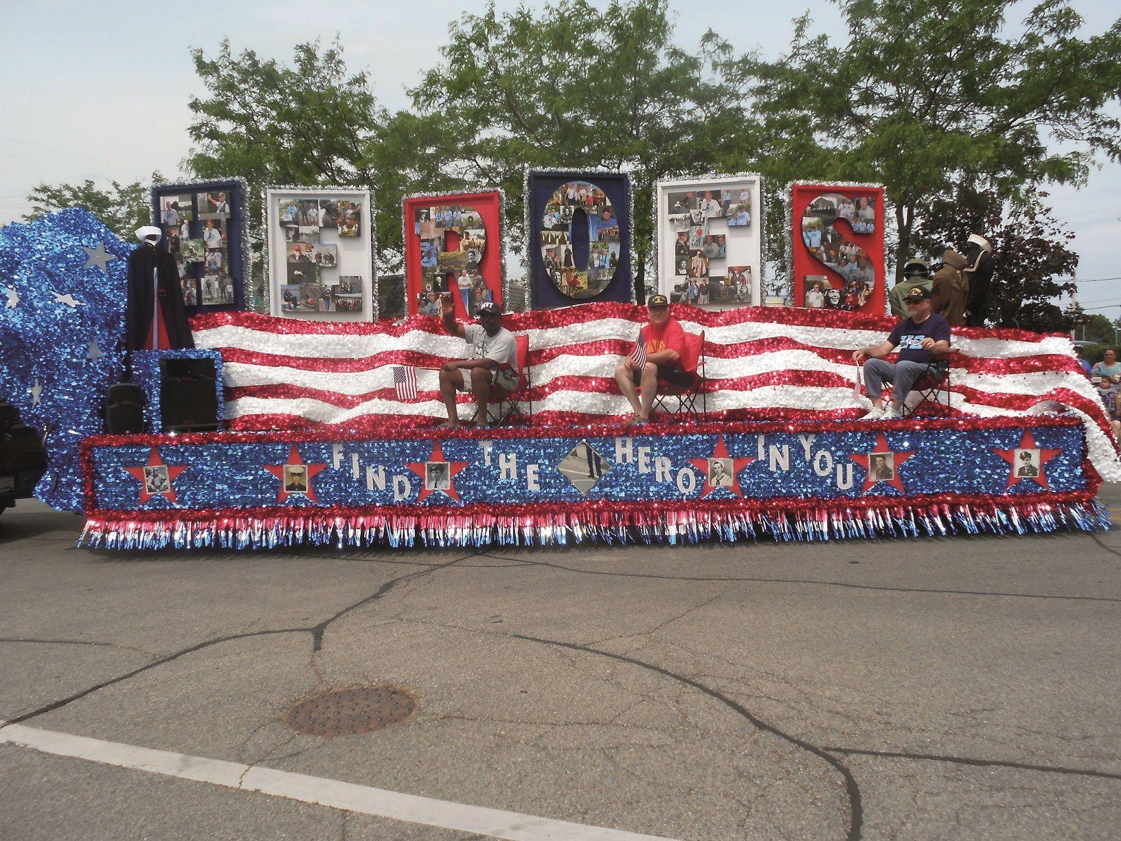 Veteran Heroes Parade Float Create Unique 4th Of July Patriotic