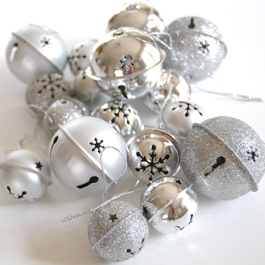 Bell Decor Sparkly Bells And Silver Bellsthese Pretty Bell Decorations Come