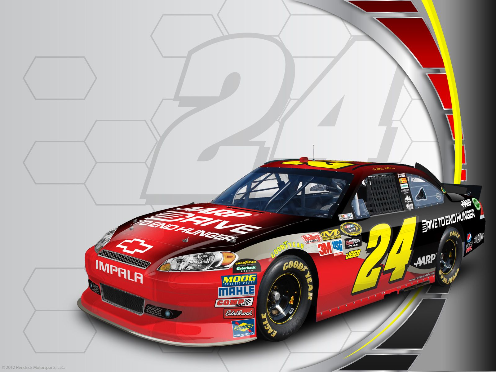 Jeff Gordon S No 24 Drive To End Hunger Chevrolet Desktop Wallpaper Nascar Racing Nascar Race Cars Nascar 24