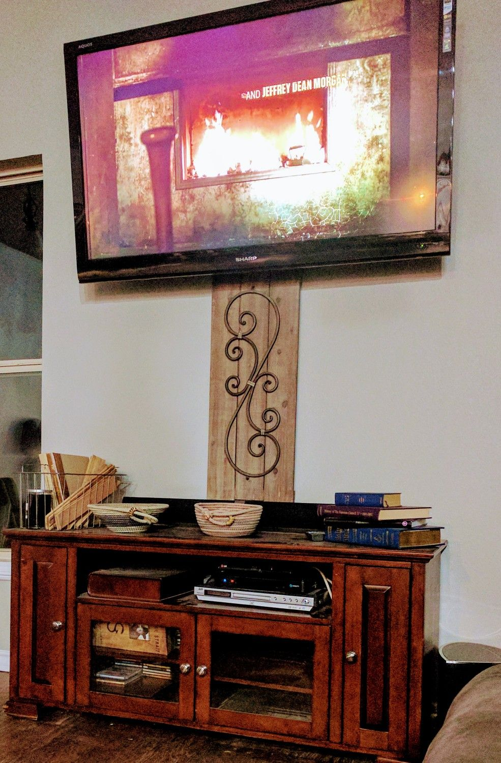 Hide Your Ugly Cords, Flat Screen Tv, Wires, Diy, Without Holes,  Inexpensively, Hobby Lobby Wall Decor