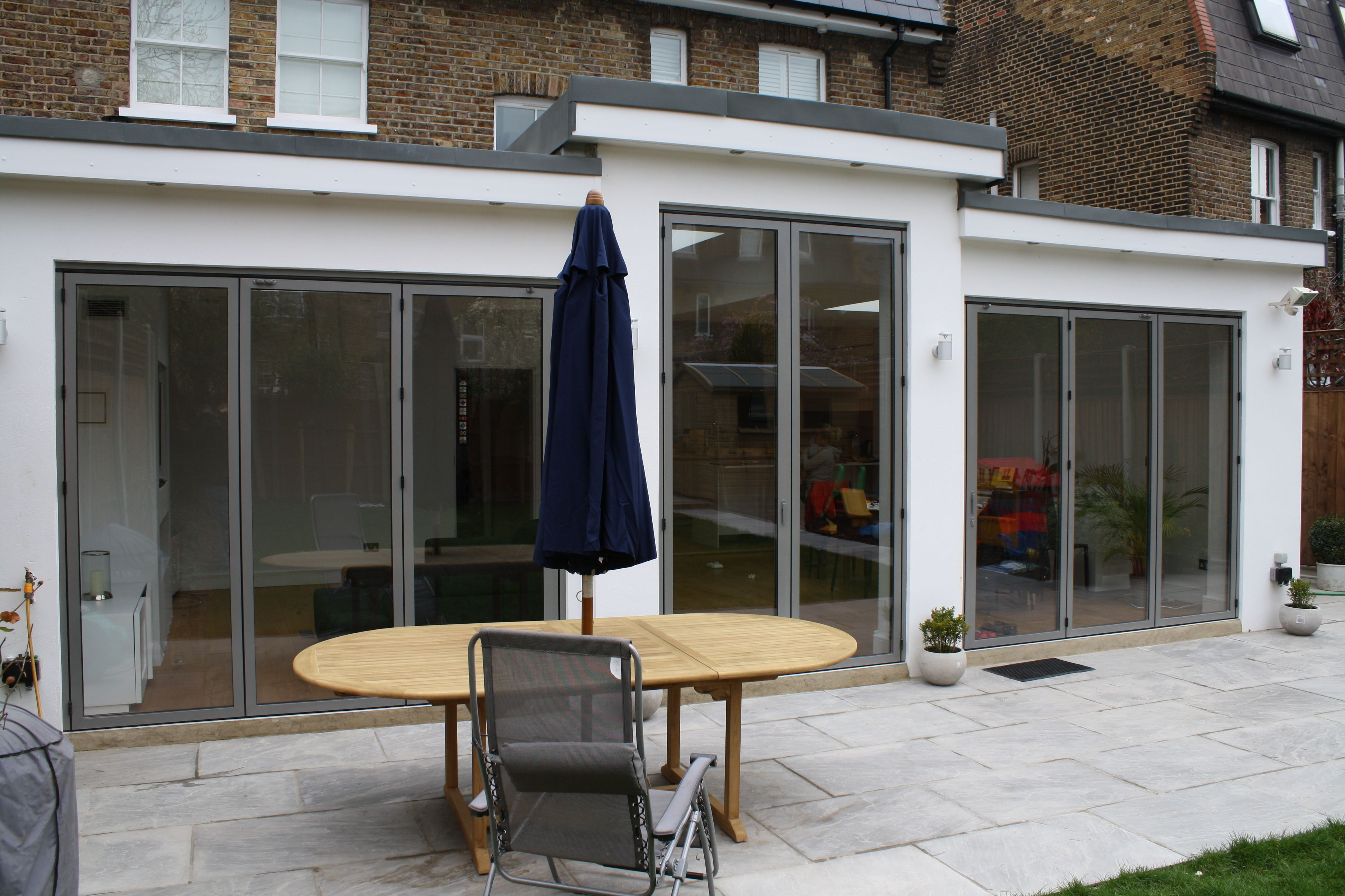 2 sets of sunflex installed folding doors and large French door in RAL 9007 & 2 sets of sunflex SF55 installed folding doors and large French ... pezcame.com