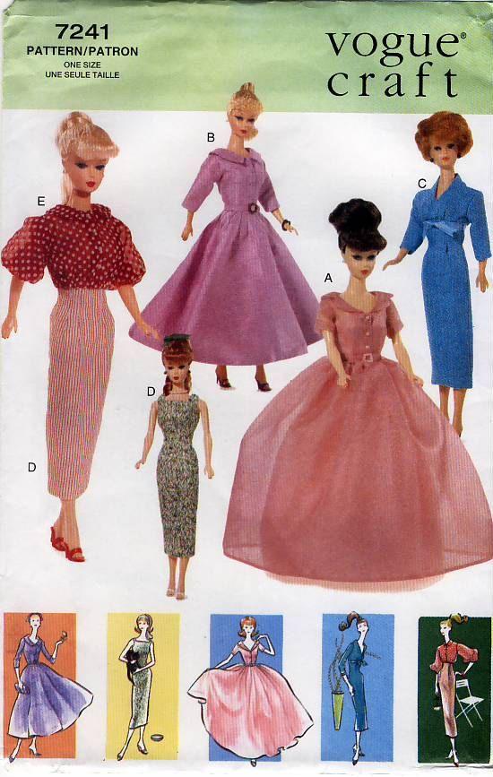 Vogue Craft 7241 Vintage Clothes for 11.5\