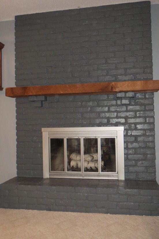 Dark Gray Fireplace Light Gray Walls Light Grey Walls Brick