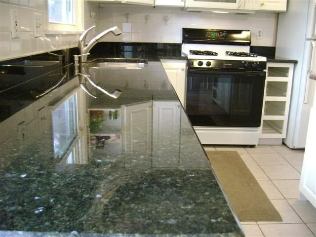 Is This Stone Blue Or Green How Long Have You Had This Granite Any Problems With It T Kitchen Design Countertops Green Countertops Green Kitchen Countertops