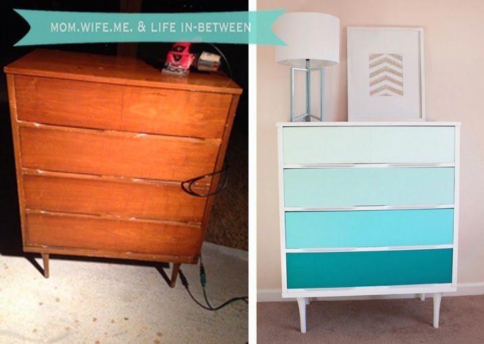 Best Diy Ombre Dresser Repurposed Furniture Furniture Fix 400 x 300