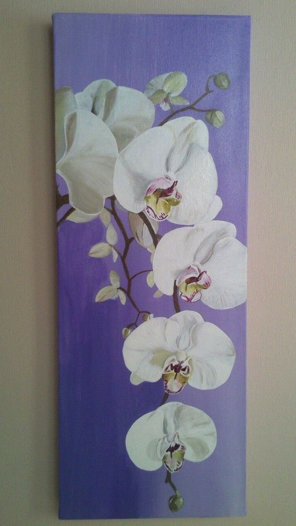 Blumen Leinwand Orchidee In Acryl | Art | Pinterest | Orchids Painting
