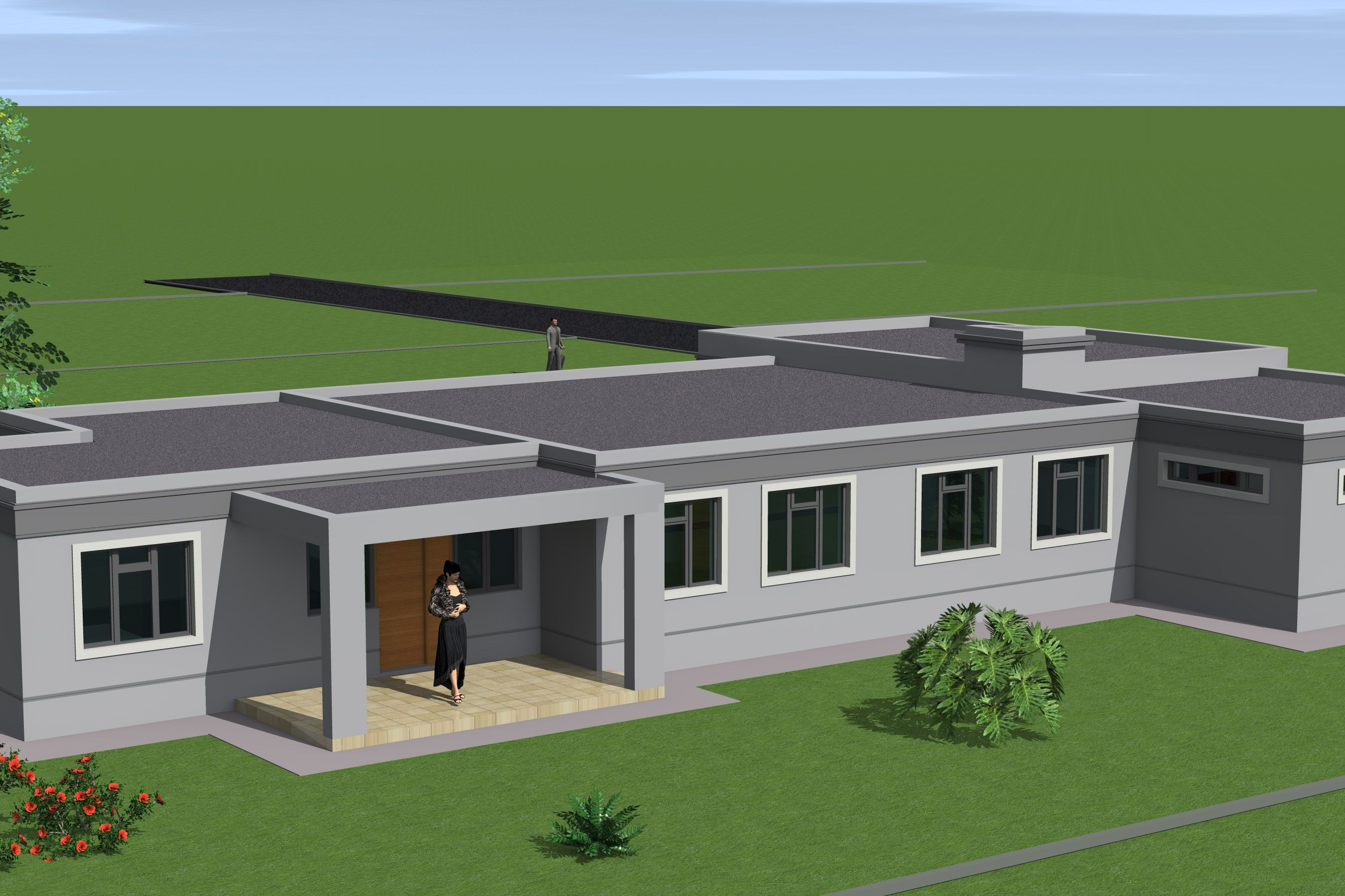 Single Storey Flat Roof House Plans In South Africa Flat Roof House Flat Roof House Designs Modern Roof Design