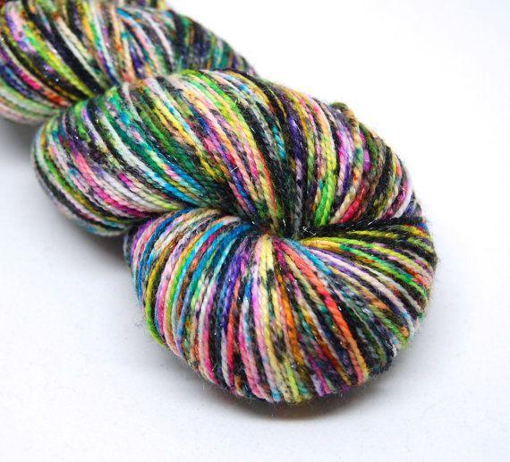Glam Rock Sparkle Sock Yarn  Supernova   by KnittyAndColor on Etsy