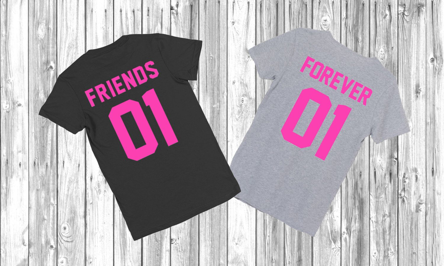 "Any number! Best Friends Couple T-shirts set ""Friends Forever"" set of 2 couple T-shirts BBF Tshirt set of 2 couple shirts best friend shirt by FunnyWhiteTshirt on Etsy https://www.etsy.com/listing/253317689/any-number-best-friends-couple-t-shirts"