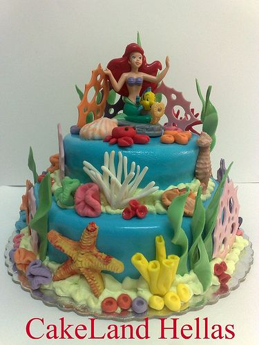 Ariel fondant cake photo by CakeLandHellas from Flickr at Lurvely