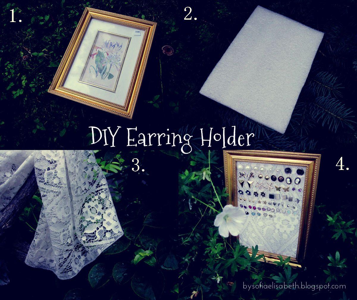 diy earring display | by sofia elisabeth