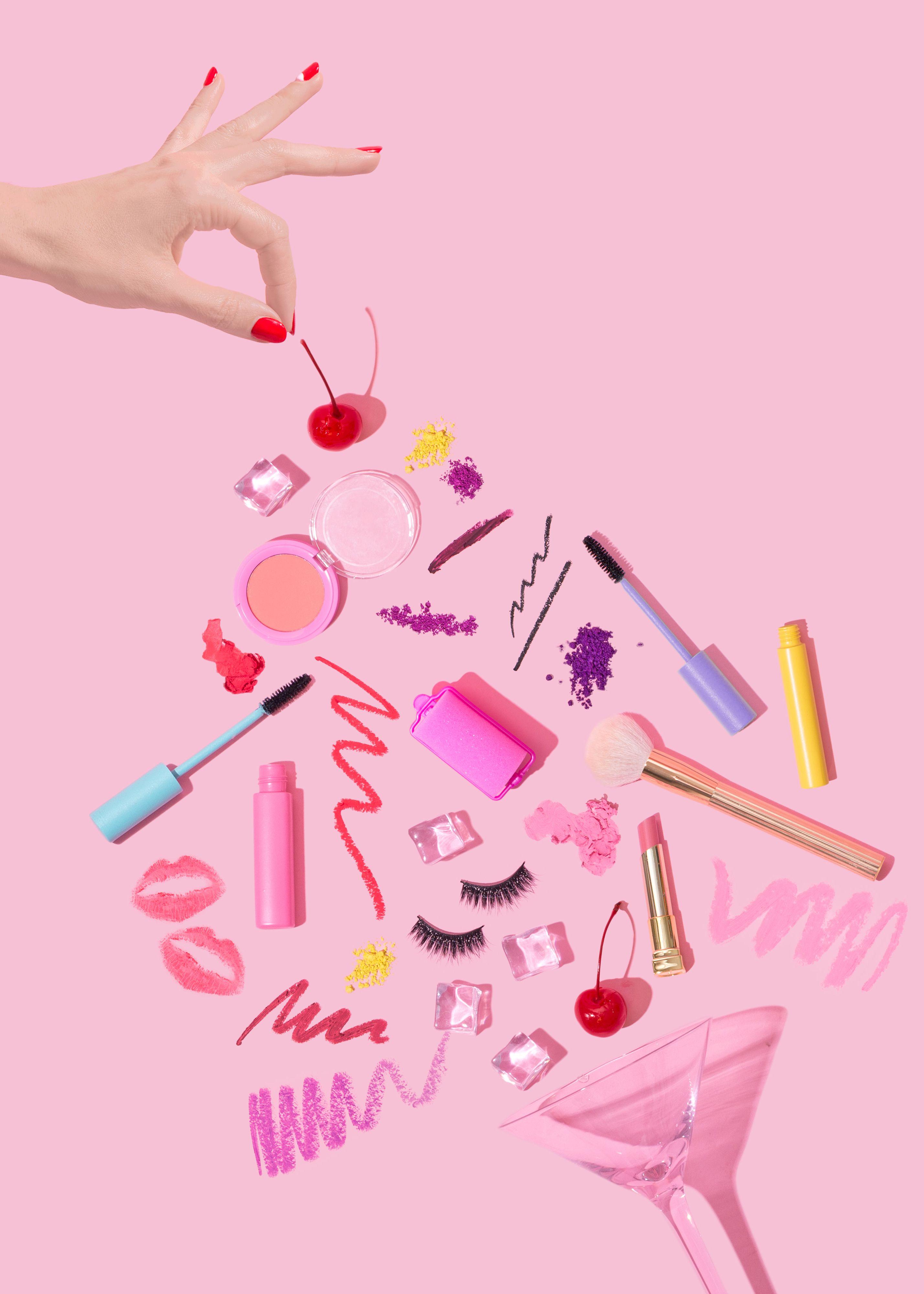 The Cherry On Top Violet Tinder Studios Instagram Rozovye Fony Logotip Dlya Salona