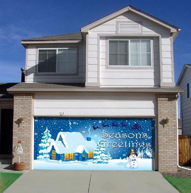 Christmas Garage Door Decor Doors Decorations Santa Natal