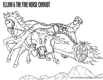 Elijah And The Chariot Of Fire EliYahu Free Bible Coloring Pages