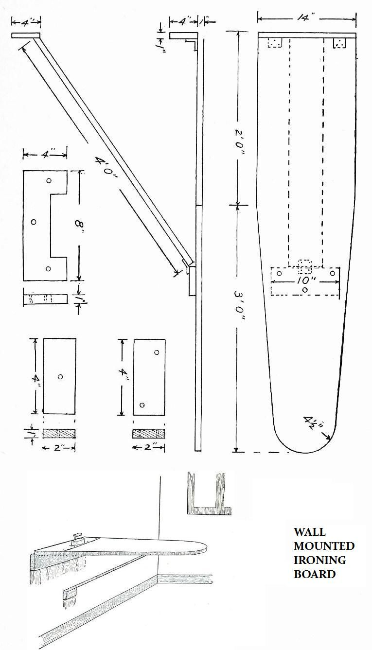 Vintage Diy Woodwork Plans Wall Mount Ironing Board I Have My Mounted In The Behind A Long Slim Door This Is Great Esaver