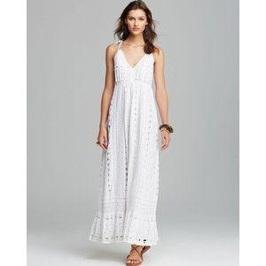 Cotton eyelet maxi dress