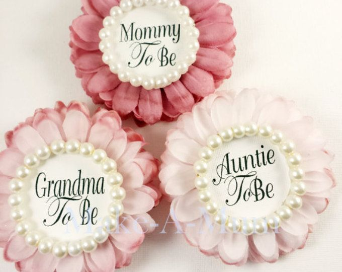 Hand Dyed Baby Shower Corsage Baby Shower Favors Mommy To Be Pin