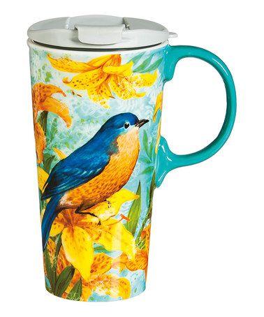 Look what I found on #zulily! Blue Bird 17-Oz. Ceramic Travel Cup #zulilyfinds