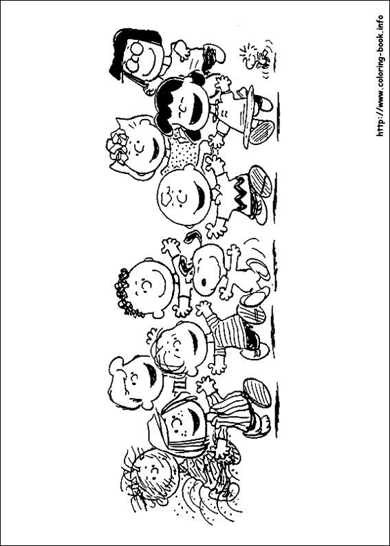 Free Charlie Brown Snoopy and Peanuts Coloring Pages: Free Whole ... | 794x567