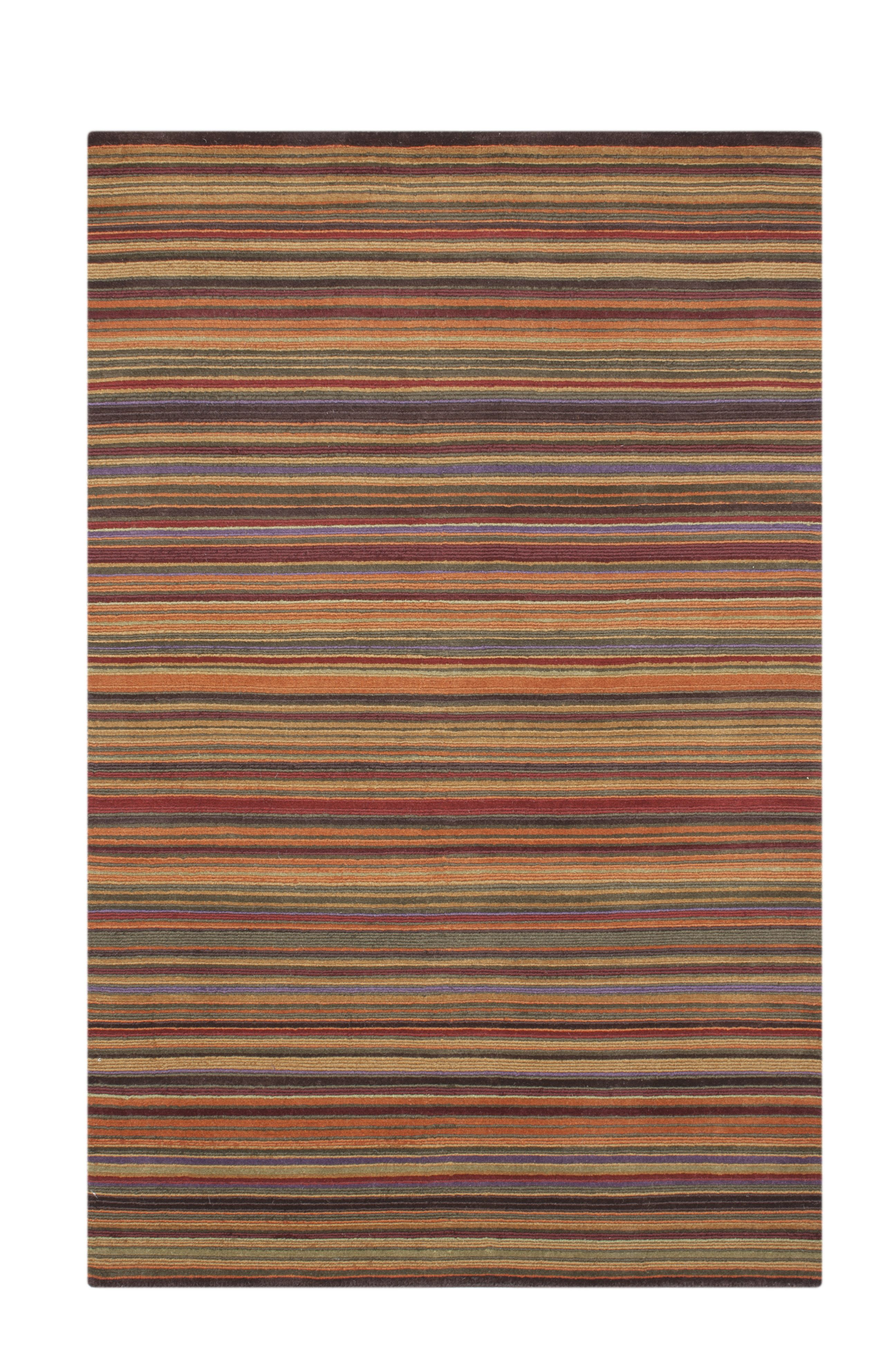 Orange Striped Rug A Hint Of The Med In Summer And Lovely Warm