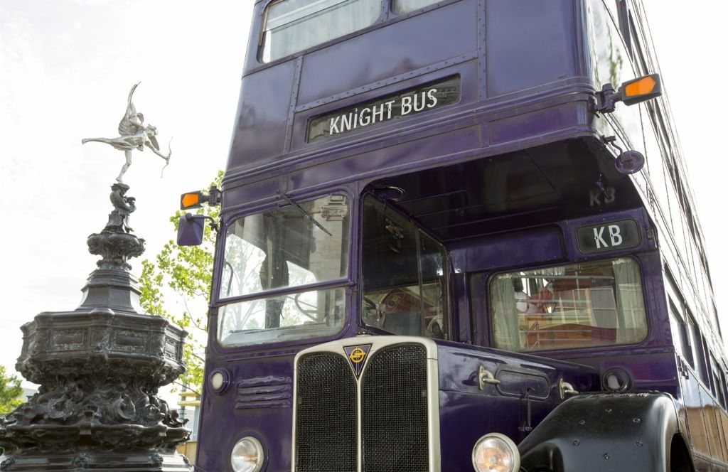 The Knight Bus at the Wizarding World of Harry Potter