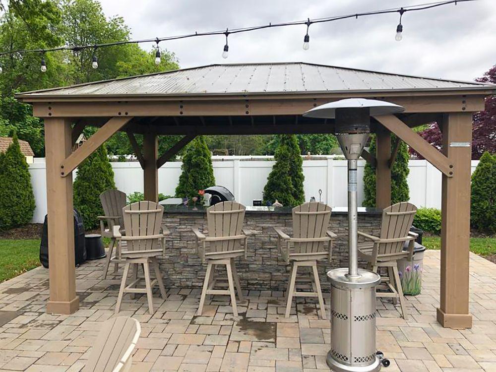 10 Inspiring Outdoor Bar Ideas 🍹 - Yardistry Structures ... on Yardistry Backyard Pavilion id=87088