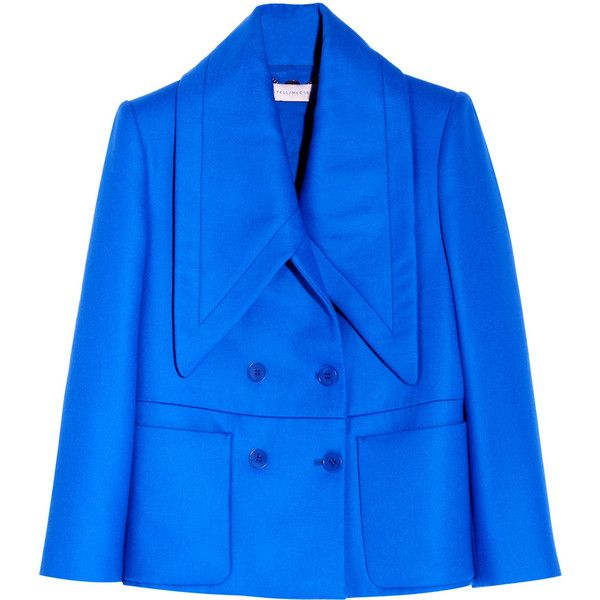 Stella McCartney Oliver wool-twill jacket found on Polyvore