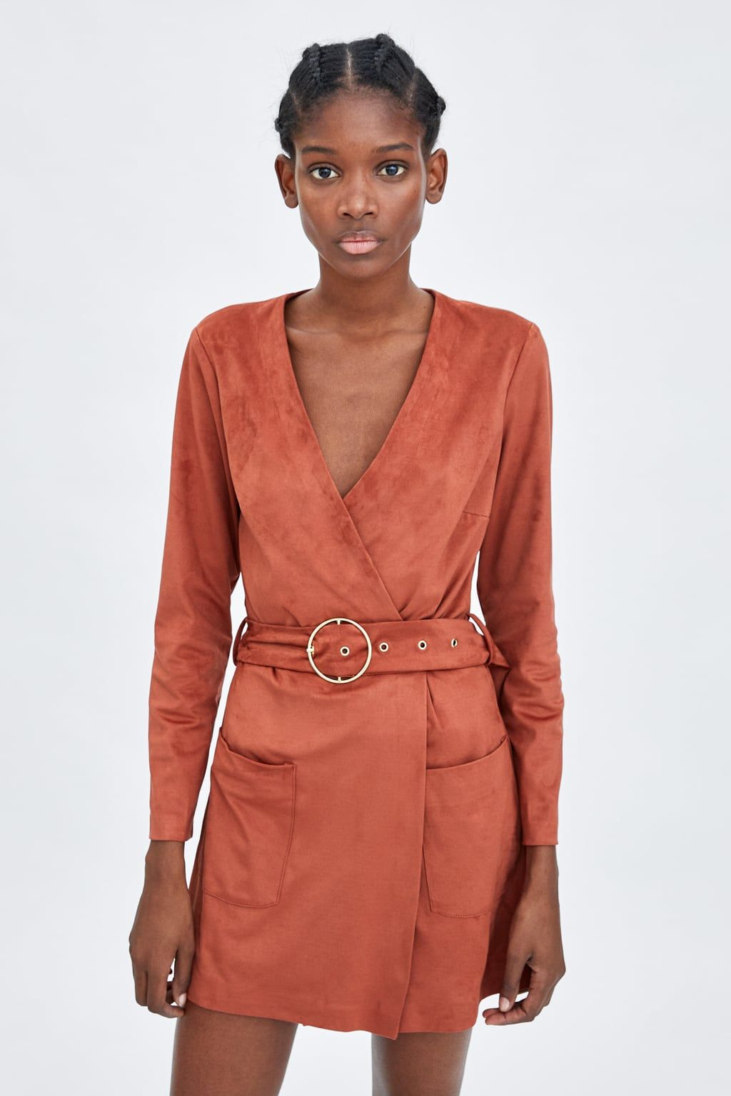 8ff526b30f2 Image 2 of FAUX SUEDE JUMPSUIT DRESS from Zara