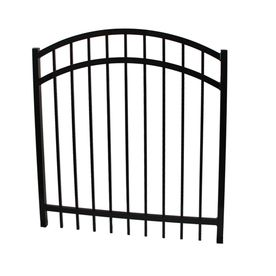 Ironcraft 4fth X 4ftw Arched Gate With Latch Hinges Screws Berkshire Black Metal Fence Gates Aluminum Fence Aluminum Fence Gate