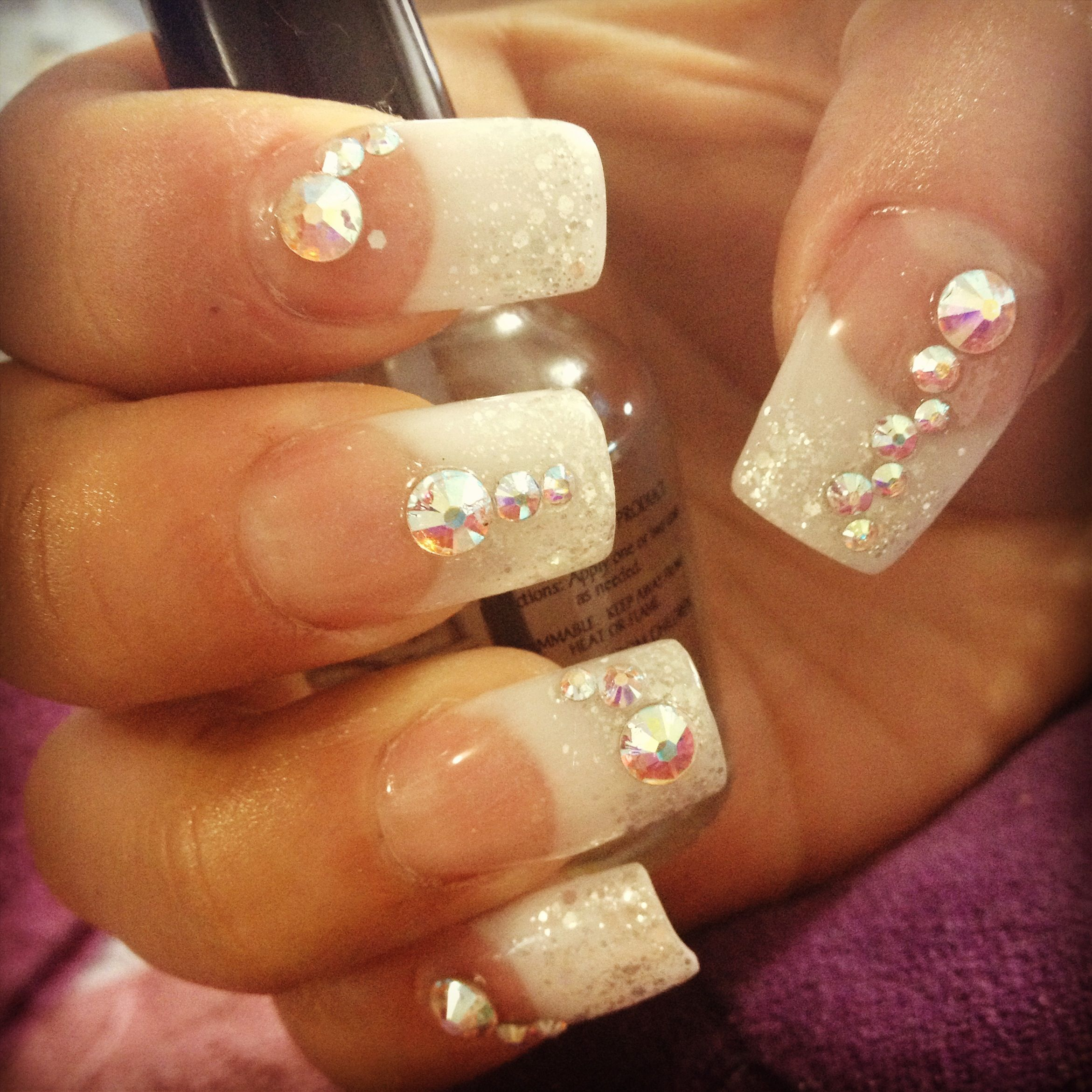 Sparkling acrylic nails for New Year\'s Eve | nails. | Pinterest ...