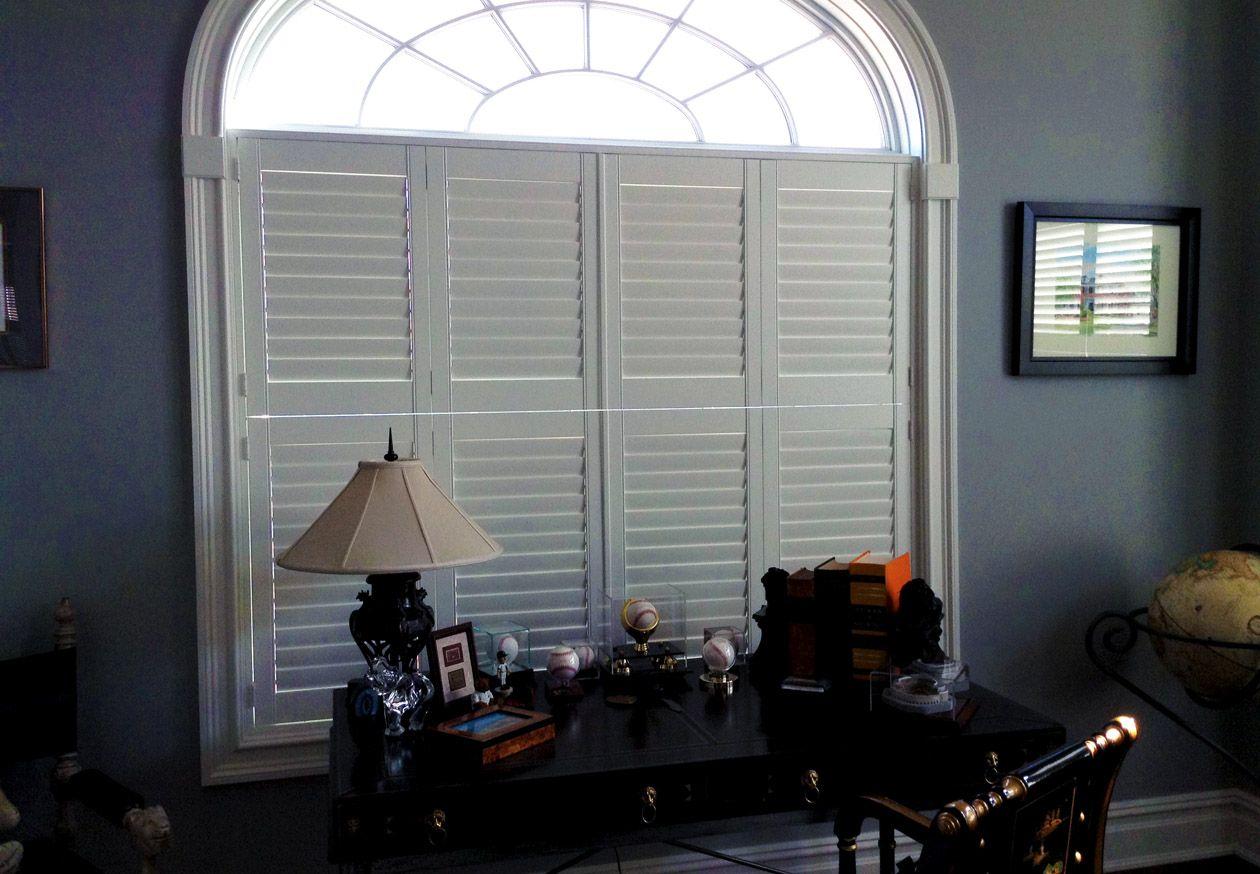 Office custom window shutters silhouette blinds u shutter job