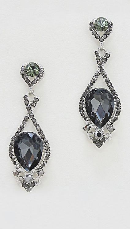Smoke Crystal Chandelier Earrings