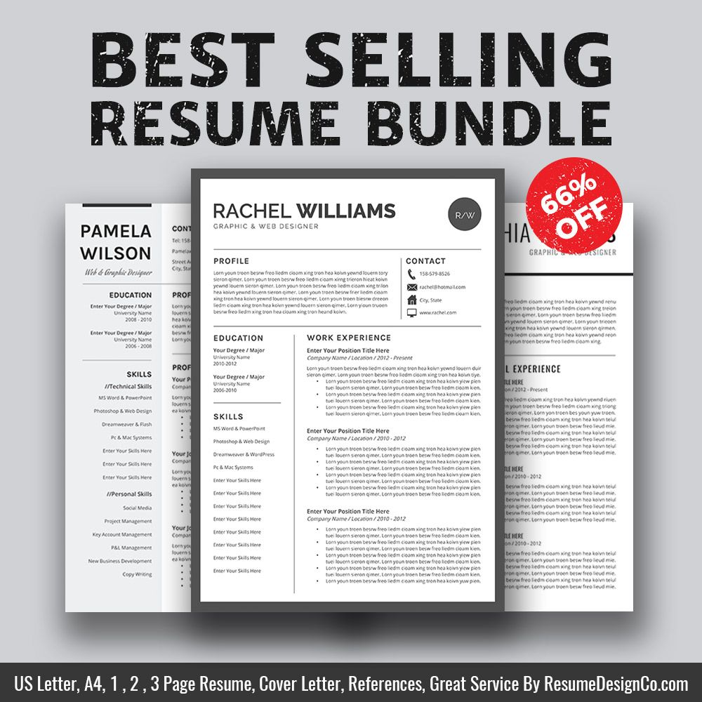 BestSelling Resume Bundle The Rachel B  Professional Resume